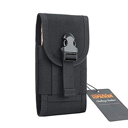 d49f67797a81 EXCELLENT ELITE SPANKER Tactical MOLLE Multipurpose Smart Phone Waist  Holster with Belt for iPhone X max Mobile Phone Holster Belt Pockets Multi  ...