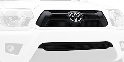 - T-Rex Grilles 51940 Upper Class Small Mesh Steel Black Finish Grille Overlay for Toyota Tacoma