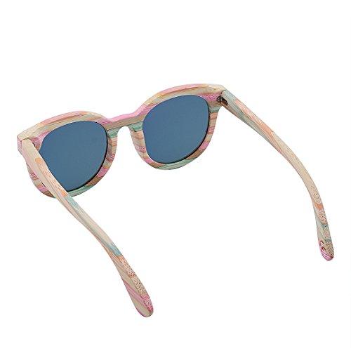Polarisées Lunettes UV400 dm512 Homme G005a Bois Pure Lunettes Wooden BEWELL amp; Soleil de Sunglasses Mixte 2 Adulte Vintage Femme Lunettes Sports Retro qxwIpYnC4
