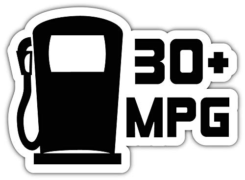 (30 MPG JDM Sticker Car Bumper Decal 5'' X 4'')
