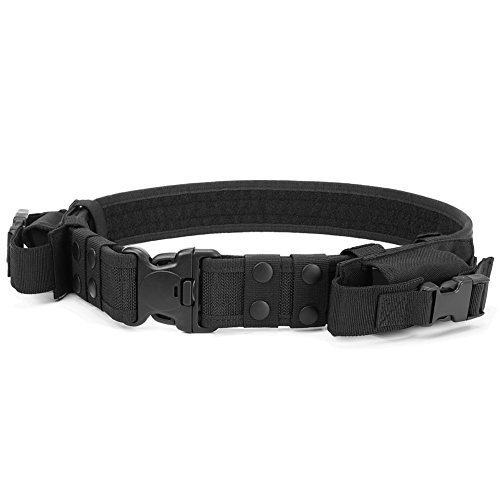 Heavy Duty Tactical Belt Adjustable Military Army Police Uni