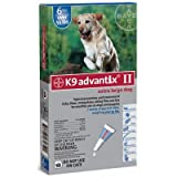 Advantix II K9 Blue – 6-Month Treatment for Extra Large Dogs Over 55 lbs — 6 Tubes, My Pet Supplies