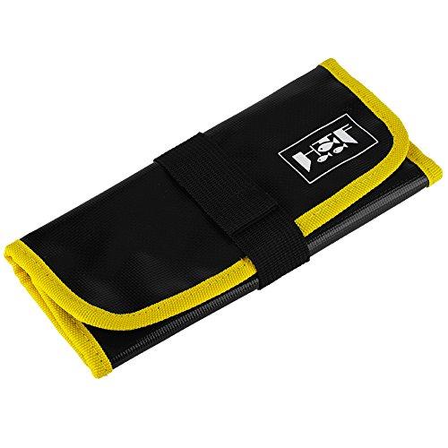 VGEBY Fishing Lures Bag, Portable Fishing Jig Bag Lures Baits Storage Tackle Pocket Bag Organizer (Yellow)