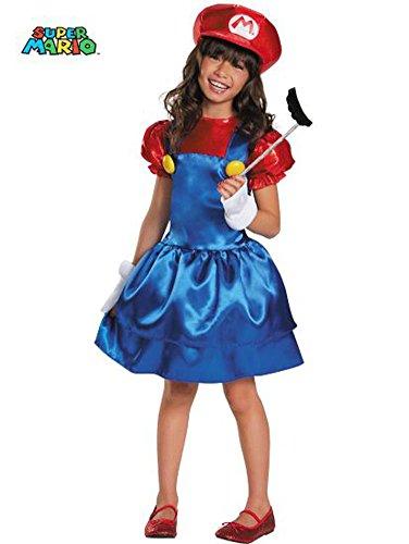 Mario Bros Costume For Girls (Mario Skirt Version Costume, Small (4-6x))