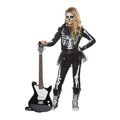 - Skeleton Rocker Girl Child Costume California Costume