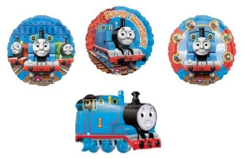 THOMAS the Tank ENGINE Train PARTY (4) Balloons SET