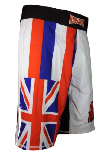 Hawaiian Fight Gear-HFG Hawaiian Flag Quad-Tech Stretch Fabric Fightshorts