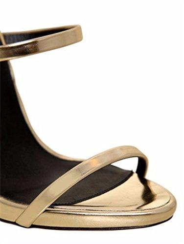 Tacco Stile Tacco Sandalo Spillo Alto Gold EU38 Sandalo Con Alto Tacco Alto Hippie LUCKY Oversize Pesante A 46 CLOVER A Con Metallo EU44 Tacco xwYq86vC6
