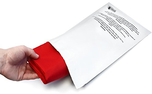Poly 100 Bag (Poly Mailer Bags - 100 Pack 10x13 ShipQuick Envelope Mailers With Adhesive Strip and Safety Regulation Choking Warning- Water and Weather Resistant Envelope Bags (10