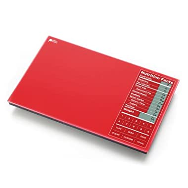Nourish Digital Kitchen Food Scale + Perfect Portions Nutritional Facts Display, by Greater Goods