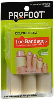 ProFoot Toe Bandages One Size 3 Each (Pack of 5)