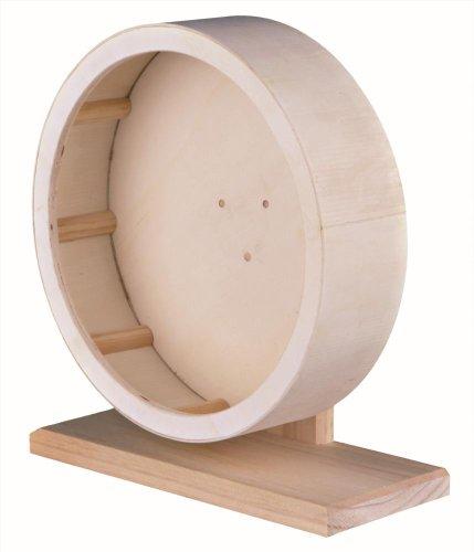 Trixie 60923 Holzlaufrad mit geschlossener Lauffläche, 28 cm