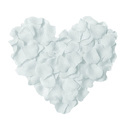 - Neo LOONS 1000 Pcs Artificial Silk Rose Petals Decoration Wedding Party Color White