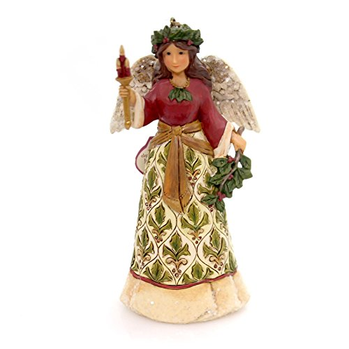 Country Angel Ornament - Enesco-Gift 4058758 Victorian Angel with Candle Ornament Multi Color