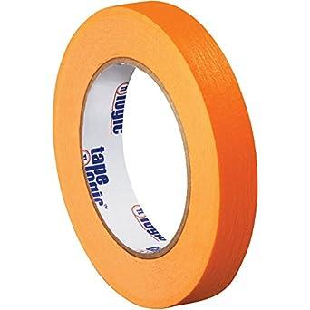 "Tape Logic T93400312PKD Masking Tape, 60 yds Length x 3/4"" Width, Orange (Case of 12)"
