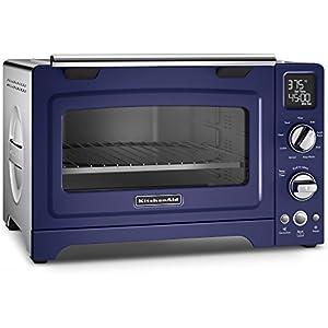 KitchenAid KCO275BU Convection 1800W Digital Countertop Oven, 12″, Cobalt Blue