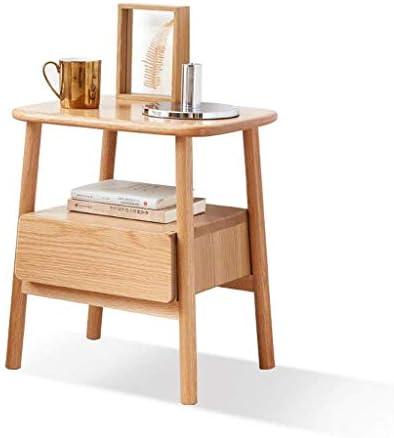FCSFSF Chaise Bout de Table en Bois Massif Table d'appoint Nordique Table Basse Moderne Table de Chevet chêne Coin canapé Tables pour Salon Chambre