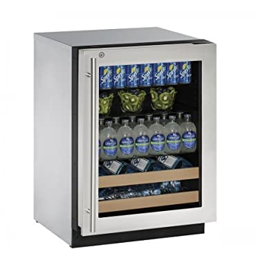"U-Line U2224BEVS13B 24"" Built-in Beverage Center, Stainless Steel"