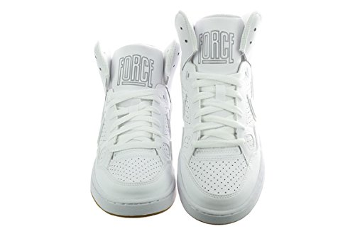 Nike Of Force Mid (GS) Zapatillas de Baloncesto, Niños white-white-gum light brown-wolf grey (615158-107)