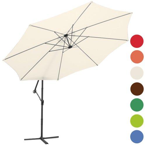 Ampelschirm--350cm-Sonnenschutz-Sonnenschirm-inkl-Stnder-Farbwahl