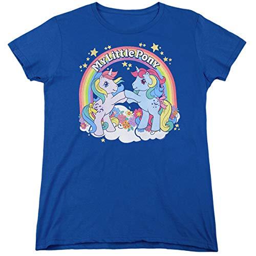 My Little Pony Classic Unicorn 80s Rainbow Logo Tee, S to XXL