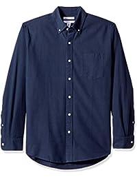 Men's Regular-fit Long-Sleeve Solid Pocket Oxford Shirt