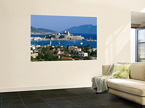 Peter's Castle, Bodrum, Aegean Coast, Turkey Wall Mural by Steve Vidler 48 x 72in (Peters Castle)