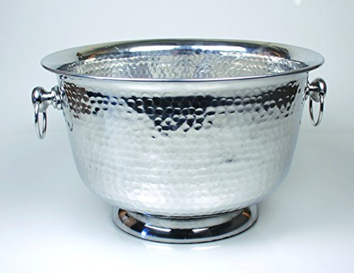 Hammered Aluminum Party Tub by Jodhpuri