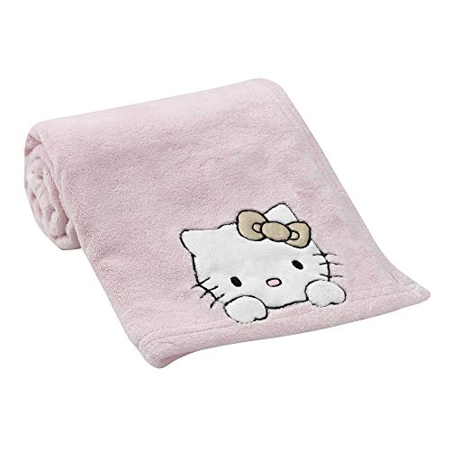 - Bedtime Originals Hello Kitty Luv Blanket, Pink/Gold