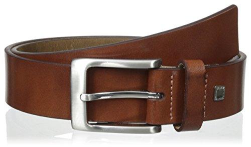 Steve Madden Belt - Steve Madden Men's 35mm Burnish Belt, Cognac, 40