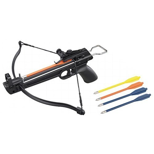 Crossbow 50 lb. Mini Pistol Hand Held Gun Archery Hunting Cross Bow w/5 Arrows