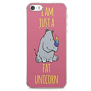 iPhone 5S Transparent Edge Phone case Unicorn Phone Case Hip Phone Case Fat Unicorn iPhone 5 Case with Transparent Frame