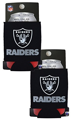 (Official National Football League Fan Shop Authentic 2-Pack NFL Insulated 12 Oz Can Cooler (Oakland)