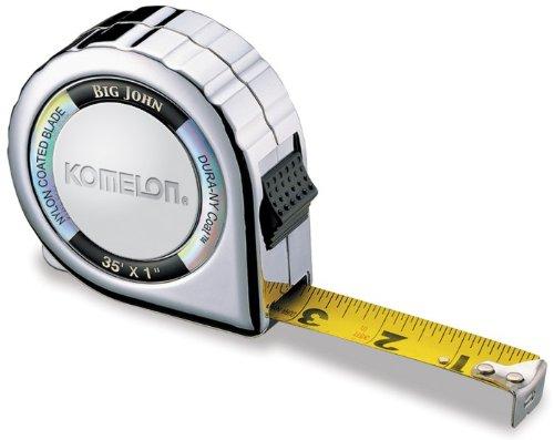 """24 Pack Komelon 535C 35' x 1"""" Big John Compact Chrome Case Tape Measure"""