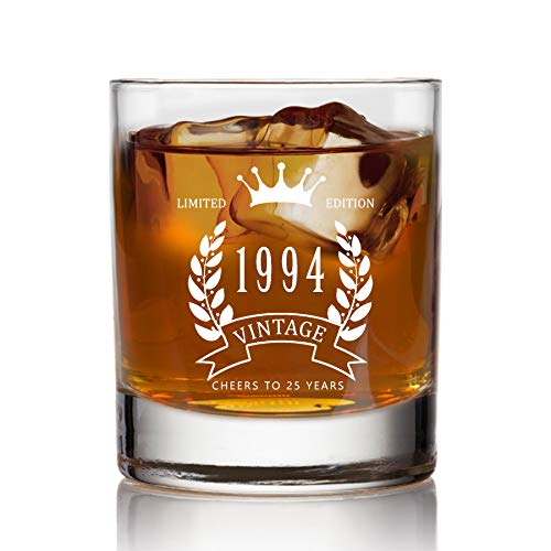 Scotch Glass, Snifter Glass, Birthday Gift, Gift For him, Limited Edition Glass,CHEERS TO 25 YEARS (Best 25 Year Scotch)