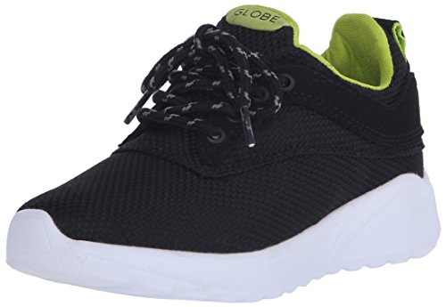 Globe Kids Roam Lyte Skateboarding Shoe (Little Kid/Big Kid), Ballistic/Lime, 3 M US Little Kid (Globe Womens Shoes)