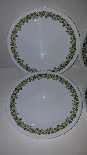 "Corelle - Spring Blossom Green (Crazy Daisy) - 6-3/4"" Bread & Butter Plates (Set of 4)"