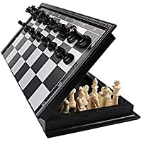 NK STAR Games Chess Folding Magnetic Travel Set with Folding Board for Kids and Adults (10 Inch)