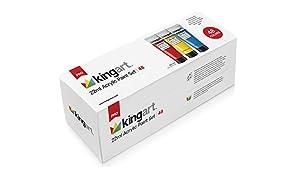 KingArt 500-48 PRO Set Acrylic Paint, 48 ea, Unique Colors Piece