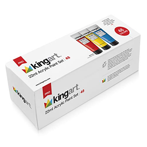 KINGART 500-48 22ml Set-Set of 48 Acrylic Paint, 48 Piece