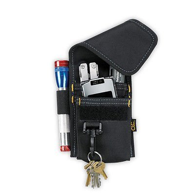 EopZol™ 4 Pocket Multi-purpose Accessory Tool Holder Pouch w/Clip