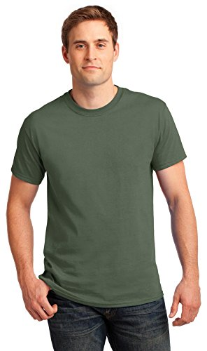 Gildan Mens Ultra Cotton 100% Cotton T-Shirt, XL, Military Green