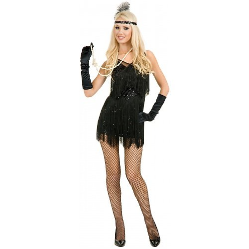 Chicago Flapper Adult Costume Black - Small