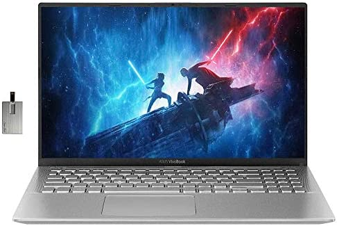 2020 ASUS VivoBook 15 15.6″ FHD Display Laptop Computer, AMD Ryzen 5-3500U, 12GB RAM, 512GB PCIe SSD, HD Webcam, ASUS SonicMaster, HDMI, AMD Radeon RX Vega 8 Win 10, Silver, 32GB Snow Bell USB Card
