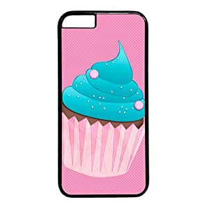 """BESTER Pink Cartoon Cupcake Theme Case for iPhone 6 Plus (5.5"""") PC Material Black"""