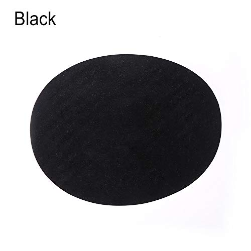 Adhesive Interlining - 1 Pair 14 11cm Suede Fabric Patch Iron On Elbow Knee Patches Oval Repair Applique Badges Diy Self - Tunic Mens Self Appliqu Dress Suede Adult Shirt Tape Shirts Long Henl