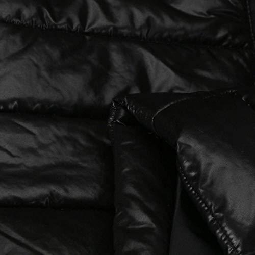 Plumas Coat Chaqueta Invierno Espesar Schwarz Piel Mujer Acolchado Fit Outerwear Con Larga Capucha Acolchada Abrigo Cortos Manga Caliente Slim De Imitación 1Pwqx71r