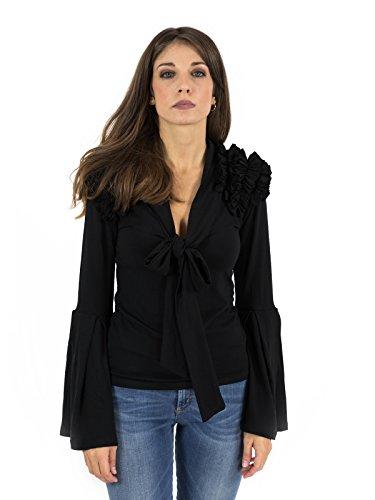 Para Denny Rose Mujer Negro Camisas 81xxEXwpq