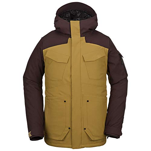 Volcom Men's VCO Inferno Insulated 2 Layer Stretch Snow Jacket, Resin Gold, Large