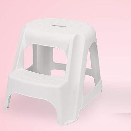 HZPXSB Taburete infantil de 2 escalones, Escalera de plástico resistente para uso en lavamanos y entrenamiento para el baño, Taburete de baño y cocina para niños pequeños, Taburetes de peldaños para n:
